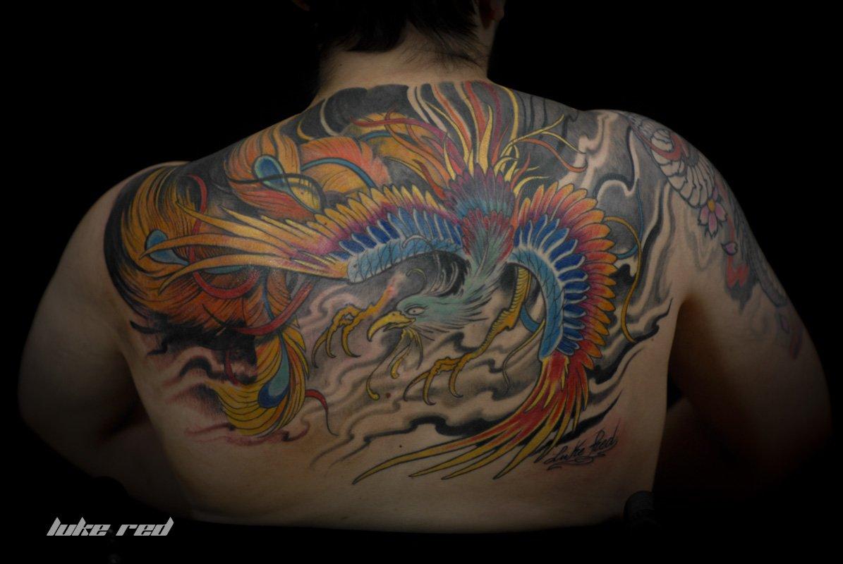 Molto Tatuaggio fenice giapponese YD77