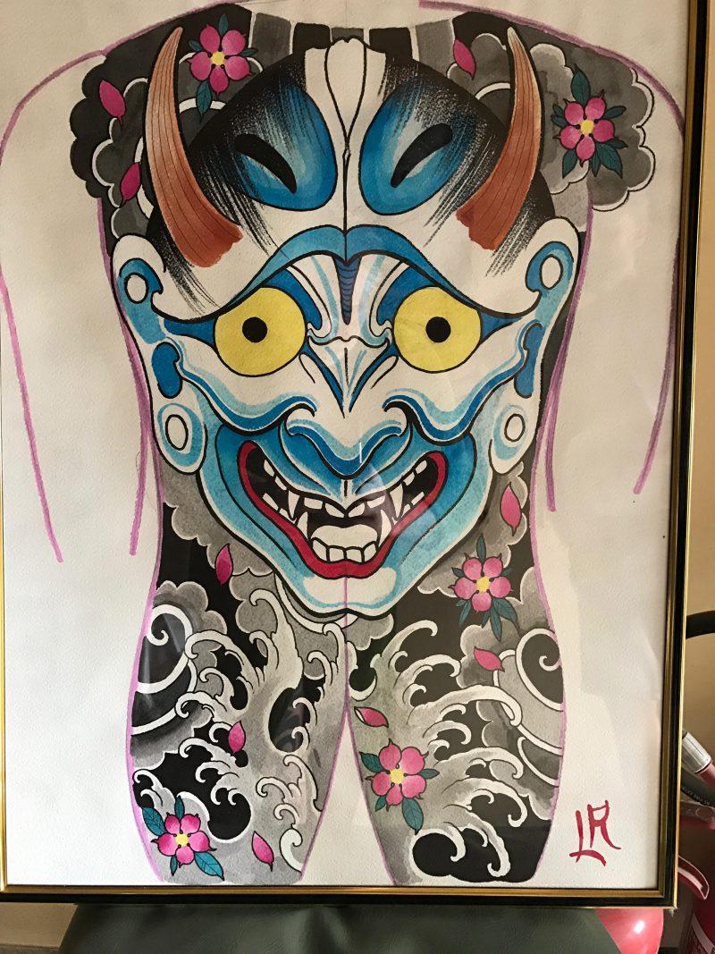 Tatuaggio giapponese Hannya o Han'nya