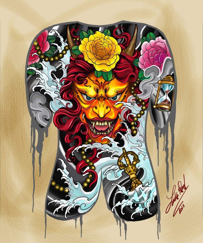 Tatuaggio Giapponese Hannya O Han Nya