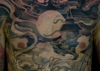 FENICE tatuaggio GIAPPONESE JAPAN TATTOO BY LUKE RED TATTOO VERONA DOMEGLIARA
