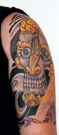 TESCHIO TIBETANO tatuaggio GIAPPONESE JAPAN TATTOO BY LUKE RED TATTOO VERONA DOMEGLIARA