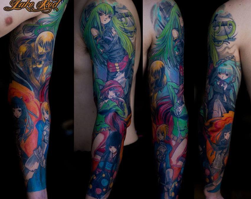 Tatuaggi anime e manga