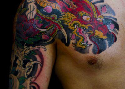 DRAGONE tatuaggio GIAPPONESE JAPAN TATTOO BY LUKE RED TATTOO VERONA DOMEGLIARA