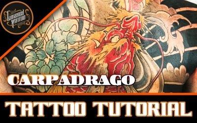 TATTOO BY LUKE RED CARPA DRAGO TATUAGGIO GIAPPONESE