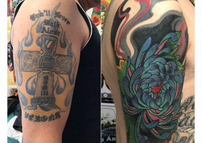copretura vecchio tatuaggio