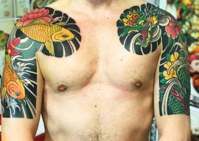 pettorine alberto by luke redtattoo tatuaggio giapponese